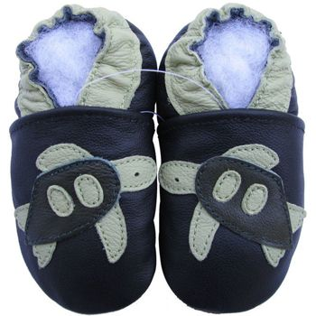 Chaussons cuir souple tortue Carozoo