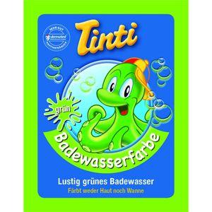 Sachet couleur pour le bain vert Tinti