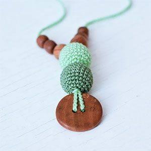 Collier d'allaitement / portage KangarooCare Vert