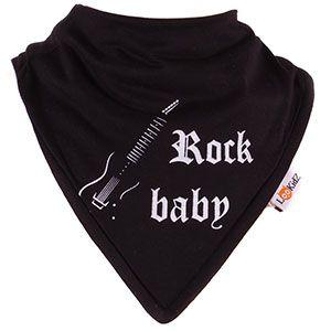 Bavoir bandana Lookidz Rock Baby noir