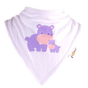 Bavoir bandana Lookidz Hippo family