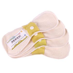 Lot de 4 Protège slips Lulu Nature Chanvre