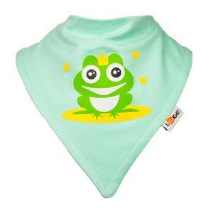 Bavoir bandana Lookidz Prince grenouille