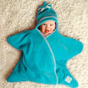 Couverture Star baby Tuppence and Crumble Turquoise
