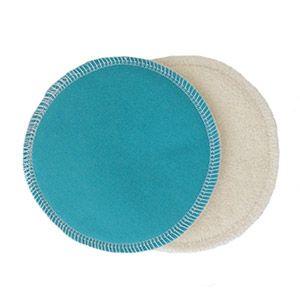 Coussinets d'allaitement lavables Bambou Lulu Nature Turquoise
