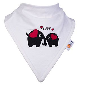Bavoir bandana Lookidz Eléphants LOVE