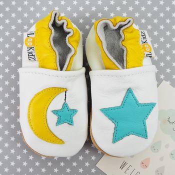 Chaussons en cuir Lookidz Lune & étoile
