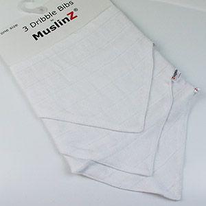 Lot de 3 bavoirs bandana MuslinZ Blanc