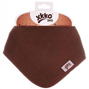 Bavoir bandana en bambou XKKO - Chocolat