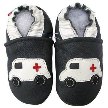 Chaussons cuir souple Ambulance Carozoo