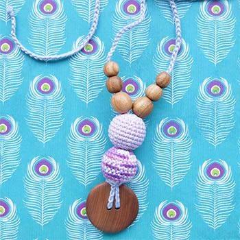 Collier d'allaitement / portage KangarooCare Rayé lilas