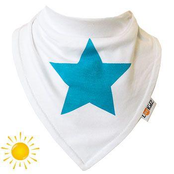 Bavoir bandana Lookidz Spécial ETE Etoile turquoise