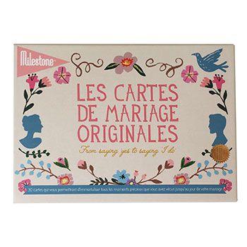 Cartes photos Mariage originales Milestone