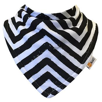 Bavoir bandana Lookidz Chevron black destroy