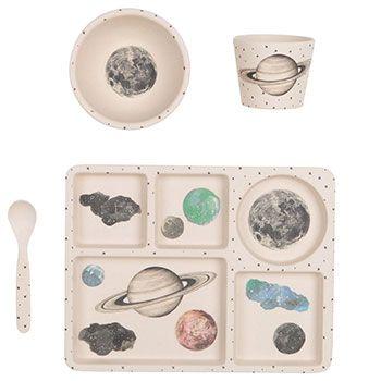 Coffret de vaisselle pour enfant Love Mae - Galaxie