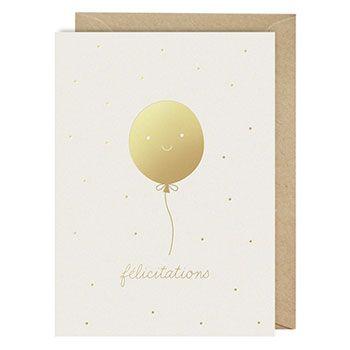 """Carte """"Félicitation"""" avec enveloppe Zü"""
