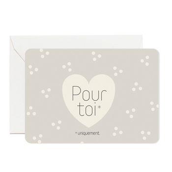 """Carte """"Pour toi"""" avec coeur Zü"""