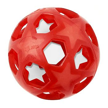 Balle caoutchouc rouge Star Ball Hévéa