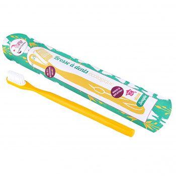 Brosse à dents écologique rechargeable Lamazuna Jaune