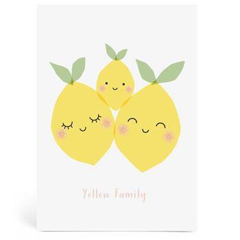 Grande carte Yellow Family  Zü