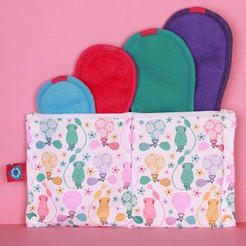 Trial Kit serviettes hygiéniques lavables Bloom