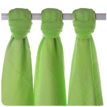 Lot de 3 mini-langes en mousseline de bambou Lime/vert Xkko