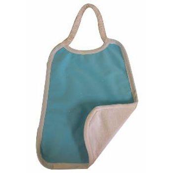 Serviette maternelle en coton bio Lulu Nature - Turquoise