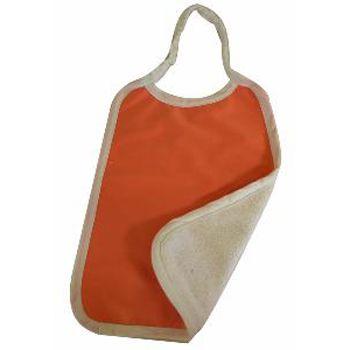 Serviette maternelle en coton bio Lulu Nature - Orange