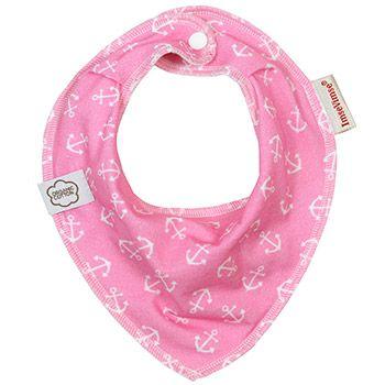 Bavoir bandana en coton bio Pink Anchor Imse Vimse