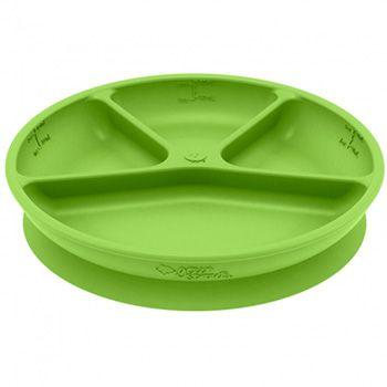 Assiette en silicone à compartiment Green Sprouts Vert