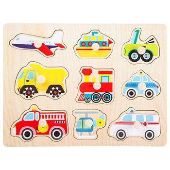 Puzzle à poser véhicules Legler
