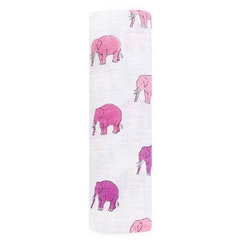 Maxi-lange en mousseline de coton Aden et Anais Elephant Parade