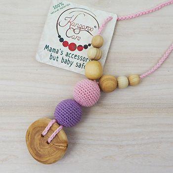 Collier d'allaitement / portage KangarooCare Rose et lilas