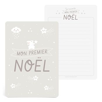 Grande carte Mon Premier Noël Zü