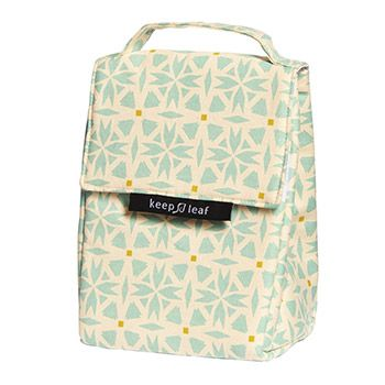 Lunch bag isotherme en coton bio Keep Leaf - Geo
