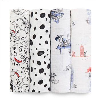 Coffret de 4 Maxi-Langes 101 Dalmatiens Aden et Anais
