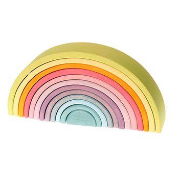 Grand Arc-en-ciel Grimm's Pastel - 12 pièces