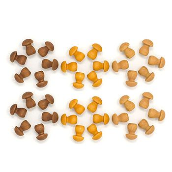 Mandala petits champignons Grapat