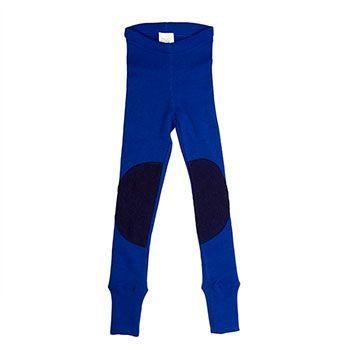 Leggings en laine avec protège-genoux Manymonths Jewel Blue