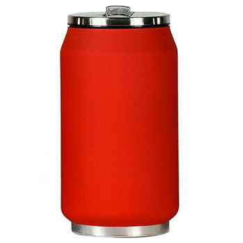 Canette isotherme Inox 280 ml Yoko Design - Soft Touch Rouge