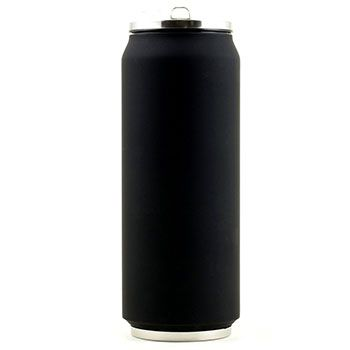 Canette isotherme Inox 500 ml Yoko Design - Soft Touch Noir