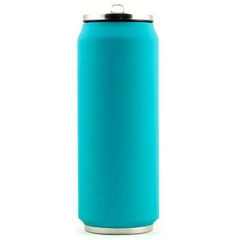 Canette isotherme Inox 500 ml Yoko Design - Soft Touch Turquoise