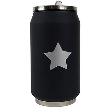 Canette isotherme Inox 280 ml Yoko Design - Star Argent