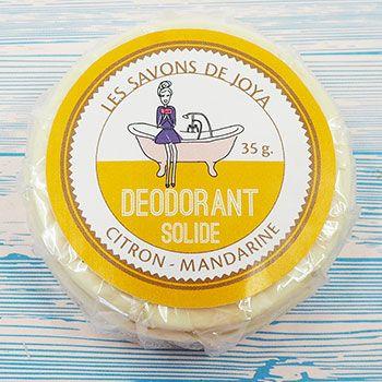 Recharge déodorant solide Citron - Mandarine Les savons de Joya