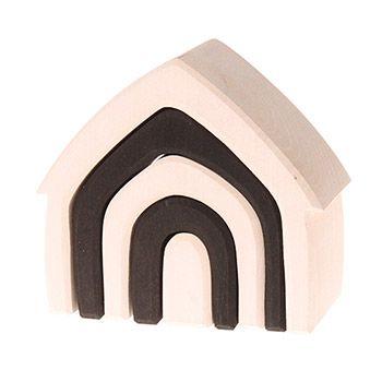 Maison Monochrome en bois Grimm's