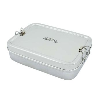 Large lunch box en Inox A slice of Green