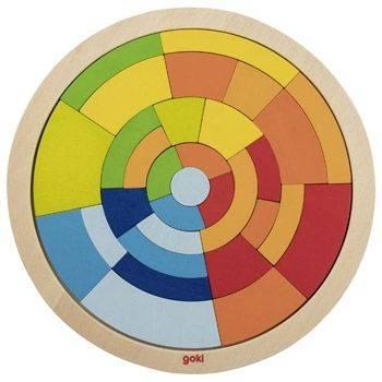 Puzzle cercle en bois Goki