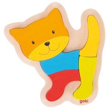 Puzzle chat en bois Goki