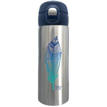 Mug isotherme Trendy Gaspajoe - Plume bleue