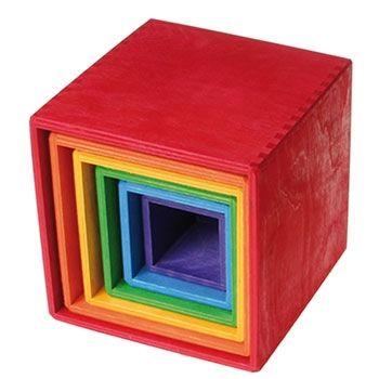 Set de cubes Rainbow en bois Grimm's